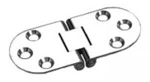 SEAWORLD Nähtischscharnier 75x38mm Edelstahl